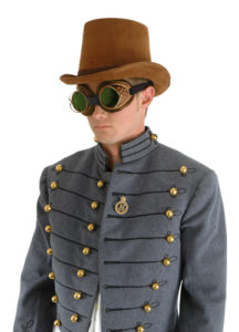Steampunk Hat - Coachman Brown Suede